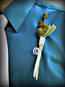 Stylized Boutonniere featured in Michigan Florist Magazine