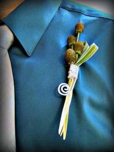 Stylized Boutonniere featured in Michigan Florist Magazine